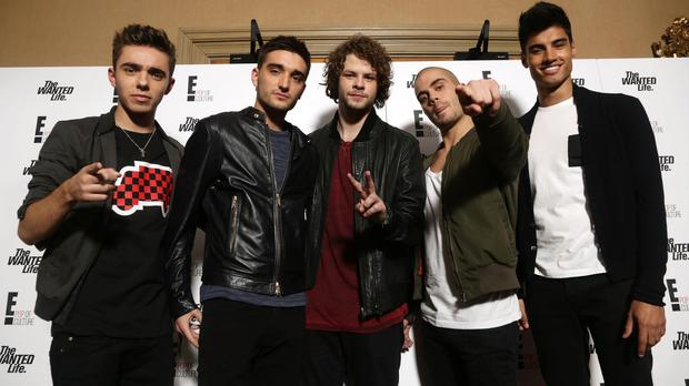 Nathan Sykes, Tom Parker, Jay McGuiness, Max George and Siva Kaneswaran of The Wanted (Yui Mok/PA)