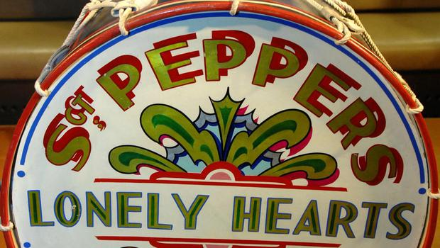 The drumskin that appeared on the cover of Sgt. Pepper's Lonely Hearts Club Band (PA)