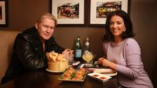 Johnny Logan and Deirdre Reynolds talk over lunch at Thai restaurant Saba, on Clarendon Street.