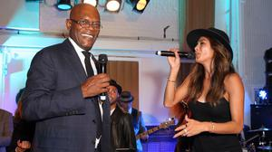 Samuel L Jackson and Nicole Scherzinger both performed at the karaoke event