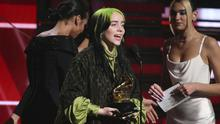 A euphoric Billie Eilish accepts the award for best new artist, though the best was yet to come for the 18-year-old singer (Matt Sayles/Invision/AP)