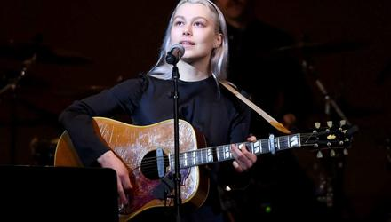 Phoebe Bridgers on stage in New York earlier this year. Photo by Ilya S. Savenok/Getty Images for Tibet House