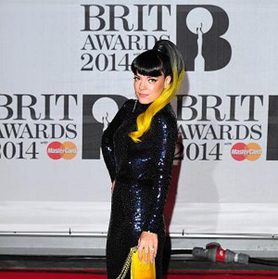 Lily Allen brightened up the Brits with her golden tresses
