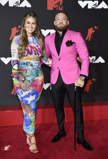 Conor McGregor attended the VMAs with partner Dee Devlin but was apparently involved in a scuffle with US rapper Machine Gun Kelly (Evan Agostini/Invision/AP)