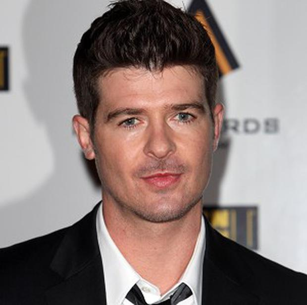 Robin Thicke is on course for a UK Number One