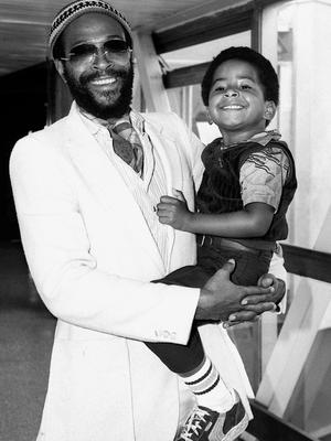 Marvin Gaye, pictured with his then four-year-old son Frankie (PA)