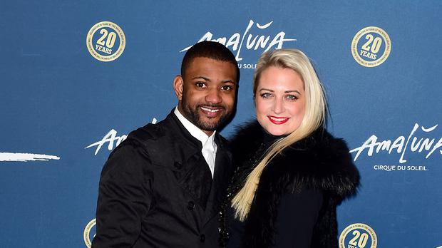 JB Gill and wife Chloe (Ian West/PA)