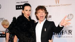 L'Wren Scott and Mick Jagger (Ian West/PA)