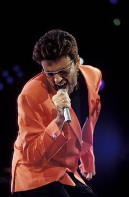 'Professional slavery': George Michael at the Freddie Mercury Tribute Concert in 1992, just months before launching his legal action against his label, Sony