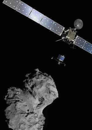 Lander: The ESA landed a spacecraft on the surface of a comet.