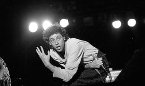 Grief-laden mind: Bob Geldof and the Boomtown Rats at the Castlebar Rock Festival 1982. Photo from Independent Newspapers Ireland/NLI Collection