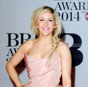 Ellie Goulding arrives at the Brit Awards at the O2 Arena in London