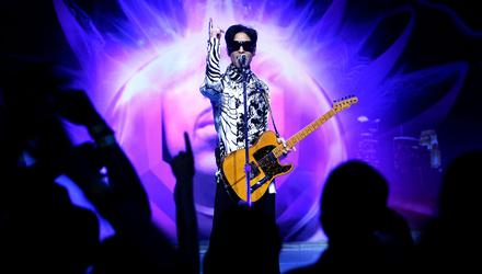 Prince performs in LA in 2009. Photo: Kristian Dowling/Getty
