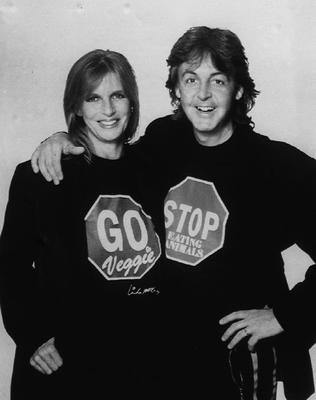 In 1991 Sir Paul and first wife Linda launched the UK's first-ever National Vegetarian Day in London. The couple were both passionate about animal rights and it is a cause Sir Paul continued to champion following Linda's death in 1998 at the age of 56 (PA)