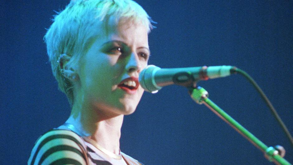 Front woman: Dolores on stage in London in 1994