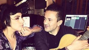 Lady Gaga posted a photo of her and RedOne in the studio (Lady Gaga/Instagram)