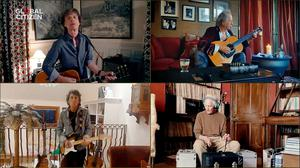 Mick Jagger, Keith Richards, Ronnie Wood and Charlie Watts of The Rolling Stones perform during One World: Together At Home (Getty Images/Getty Images for Global Citizen/PA)