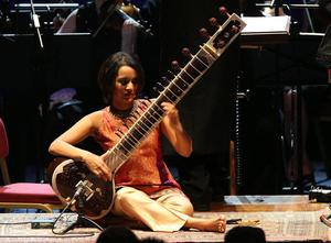 Anoushka Shankar features on the album playing sitar (Ian West/PA)