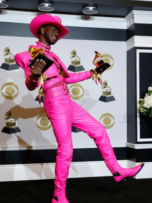 Pride and prejudice: Lil Nas X with his two Grammys on Sunday