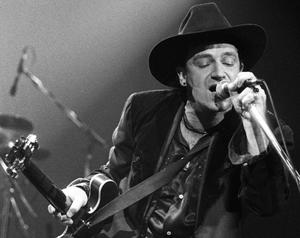 Bono performing at The Point on St Stephen's Day, 1989.