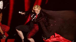 Madonna took a tumble at the Brit Awards