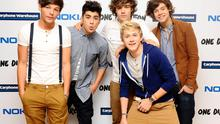 In happier times - Zayn Malik with the other band members