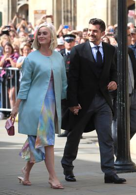Perry and Bloom are expecting a baby (Peter Byrne/PA)