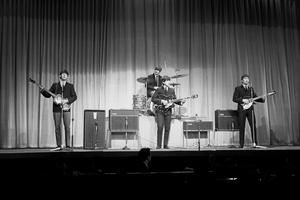 The Beatles rehearsing for their Royal Variety Performance in 1963 (PA)