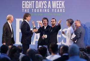 Sir Paul and Sir Ringo at the premiere of Ron Howard's The Beatles: Eight Days A Week – The Touring Years (Yui Mok/PA)