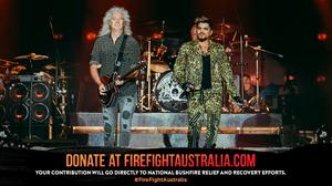 Queen at the bushfire concert in Australia (Jared Leibowitz/FireFight Australia)