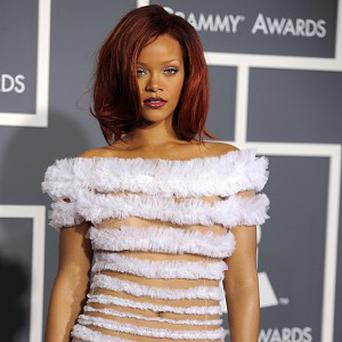 Rihanna at the Grammys in 2011