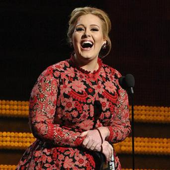 Adele picked up a gong at the Grammys