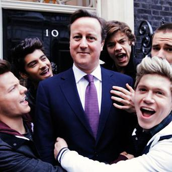 David Cameron appeared in One Direction's video