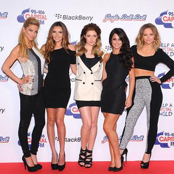 Girls Aloud had to celebrate without Cheryl Cole