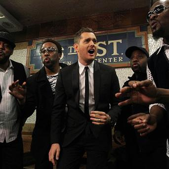 Michael Buble performed in the New York subway