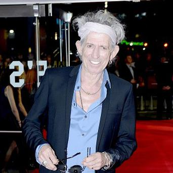 Keith Richards apparently owes plenty in library fines