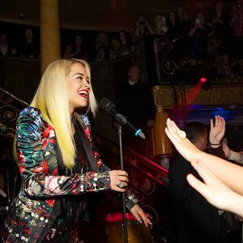 Rita Ora thanked fans for her 'crazy year'