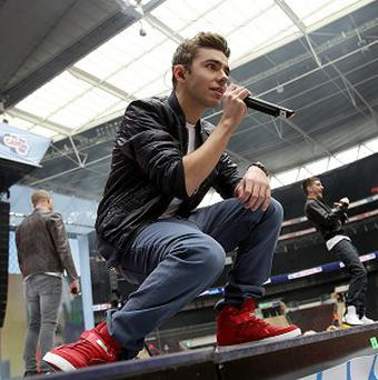 Nathan Sykes from The Wanted on stage during Capital FM's Summertime Ball at Wembley Stadium, London.