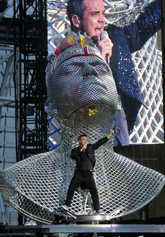 Robbie Williams performs at the Aviva Stadium, Dublin