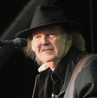 Neil Young live at the RDS showgrounds.