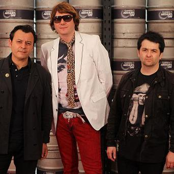 The Manic Street Preachers were joined on stage by rugby player Jamie Roberts
