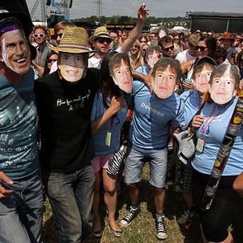 Rolling Stones fans look forward to seeing their idols at Glastonbury