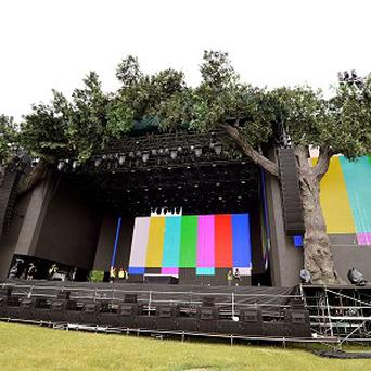 The Great Oak stage in Hyde Park