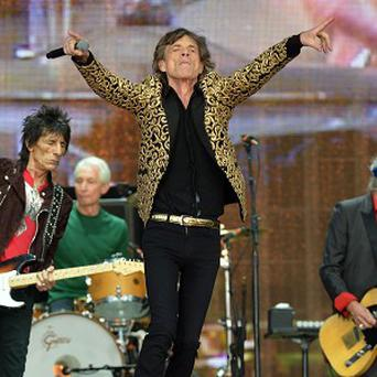 Mick Jagger performs on stage during Barclaycard British Summer Time in Hyde Park