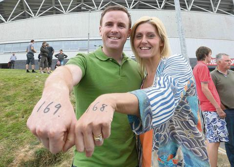 Paul and Michelle Lavery from Armagh queuing up at Thomond Park for the Bruce Spingsteen concert