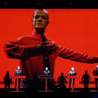 Kraftwerk perform on the Obelisk stage during the Latitude Festival
