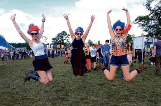 Sinead Cooney, Riannagh Morris and Aine Quirke from Kildare enjoying the Electric Picnic festival last year.