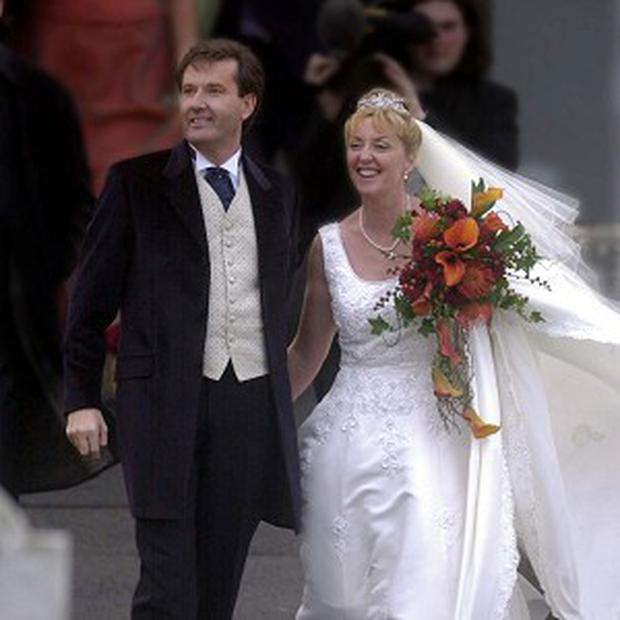 Daniel O'Donnell and his wife Majella on their wedding day