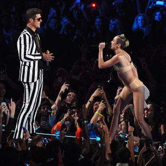 Robin Thicke performed with Miley Cyrus at the MTV awards