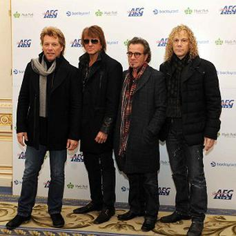 Jon Bon Jovi, Richie Sambora, Tico Torres and David Bryan are currently on tour
